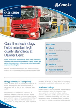 quantima technology helps maintain high quality at daimler benz