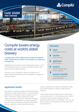 CompAir lowers energy costs at worlds oldest brewery