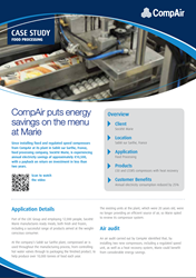 CompAir puts energy savings on the menu at Marie