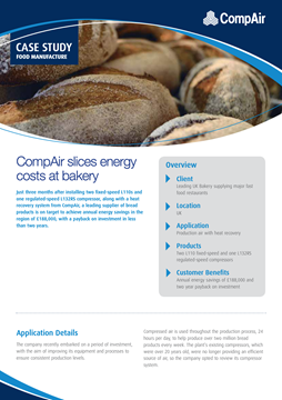 CompAir slices energy costs at bakery
