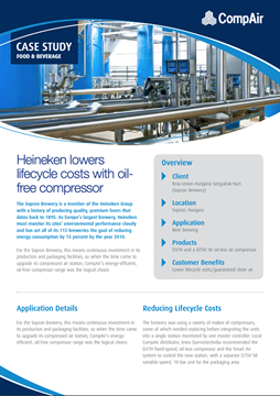 Heineken lowers lifecycle costs with oilfree compressor
