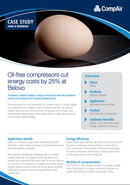 Oil-free compressors cut energy costs by 25 at Belovo