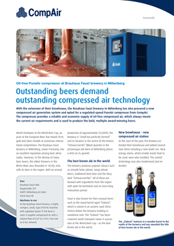 Outstanding beers demand outstanding compressed air technology