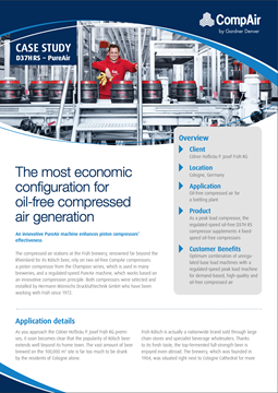 The most economic configuration for oil-free compressed air generation