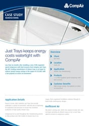 Just trays keeps energy costs watertight with CompAir