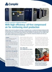 With high efficiency oil free Compressed air for reinforcing steel production