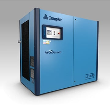 L110RS lubricated screw compressor