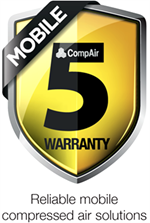 CompAir showcases new 'Mobile 5' warranty