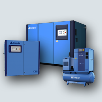 L series lubricated screw air compressors