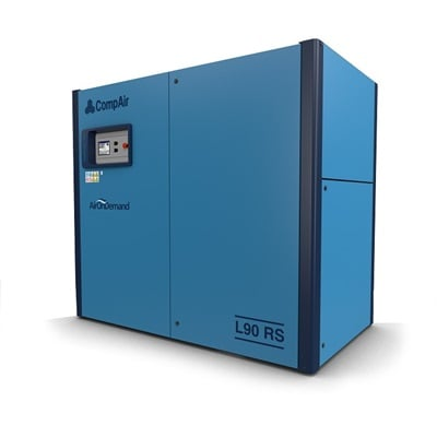 L90RS regulated speed lubricated screw air compressor (90 kW)