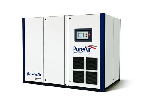 D132RS regulated speed oilfree screw air compressor (132 kW)