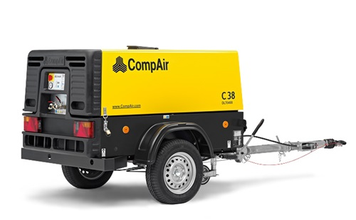 portable air compressor C38 side view