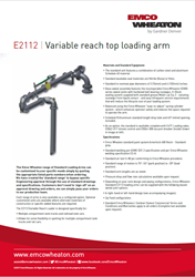 E2112 Variable Reach Top Loading Arm Us