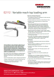 E2112 Variable Reach Top Loading Arm