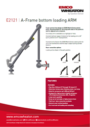 E2121 High Pressure A Frame Bottom Loading Arm