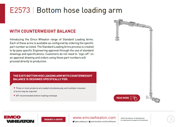 E2573 Bottom hose loading arm