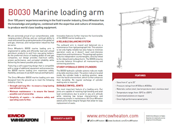 B0030 Marine Loading arm