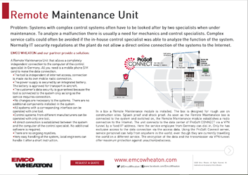 Remote Maintenance Unit