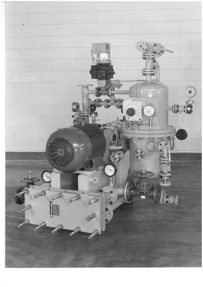 Garo liquid ring compressor old picture 1988