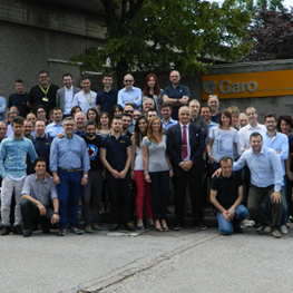 Garo Team Members stand outside the facility in Monza