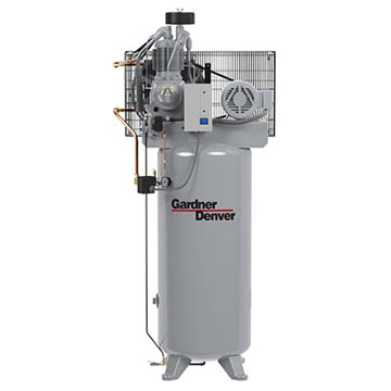 R-Series Reciprocating Compressor on Vertical Tank
