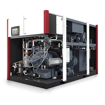 Rotary Screw Oil Free Compressor - EnviroAire T165 Open View