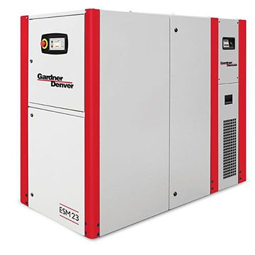 Rotary screw compressor ESM 23 Left Side View_integrated