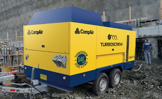 CompAir Portable Turbo Screw Compressor