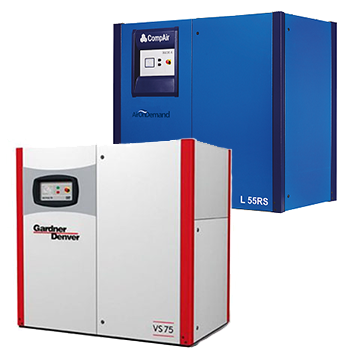 screw compressors 55-140kw range