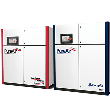 two stage screw compressor range