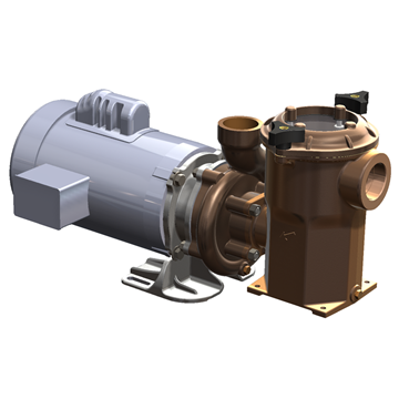 "Bronze Marine Pump w/Sea Strainer SWX150S 1-1/2"" x 1-1/2"" End Suction Centrifugal Marine Water Pump with Sea Strainer"