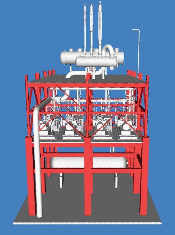 3D CAD of CDU / VDU Tower for BPCL