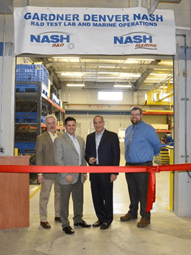 Nash and Gardner Denver Energy Officials at Ribbon Cutting Ceremony