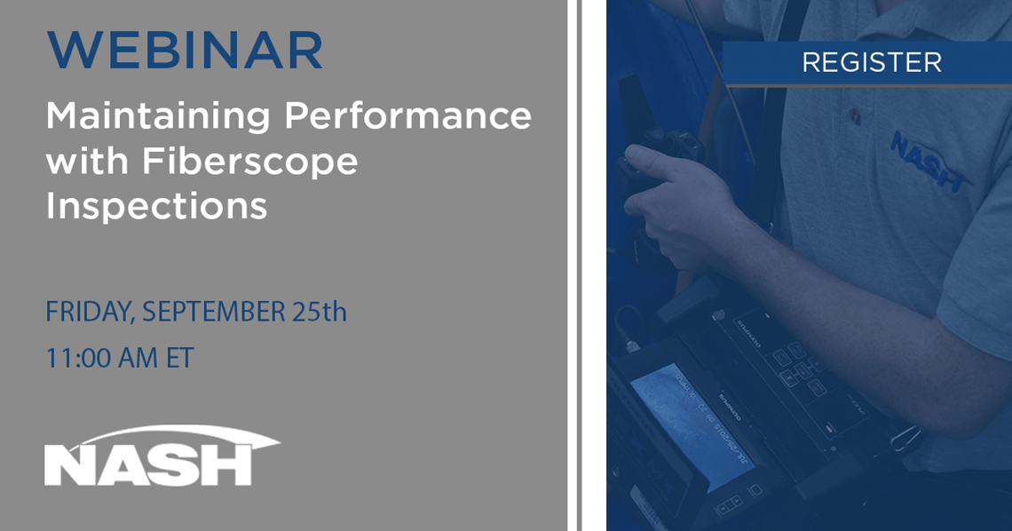 Free webinar on FIberscope Inspections hosted by Nash