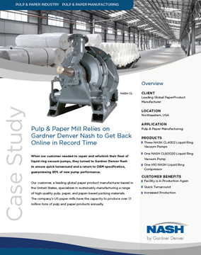 NASH Equipment for Pulp & Paper - Download the Case Study