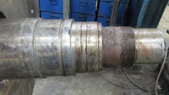 Pump shaft damage