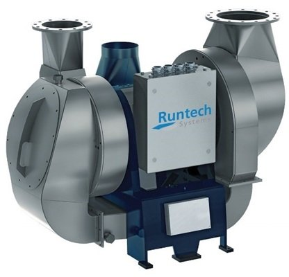 single- or a two-stage speed-controlled turbo blower