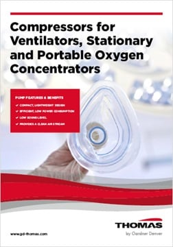 Compressors for Ventilators, Stationary and Portable Oxygen Concentrators