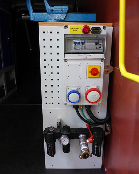 on board power compressor system