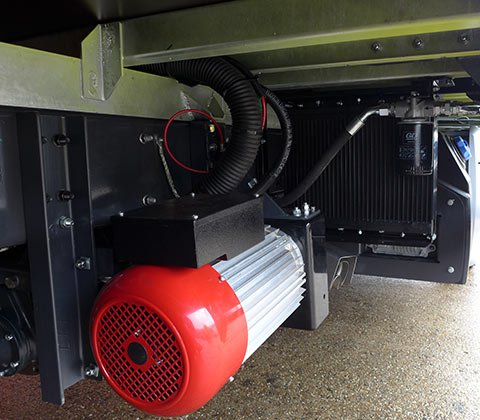 utility vehicle on board power underfloor compressors