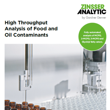 High throughput analysis of food and oil contaminants